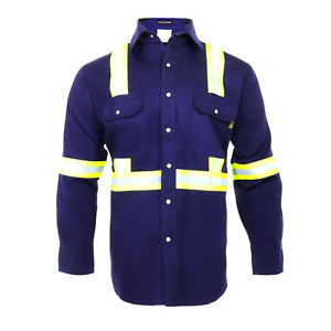 100% Cotton safety Reflective flame resistant workwear
